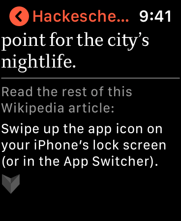 V for Wikipedia · iPhone, iPad, and Apple Watch
